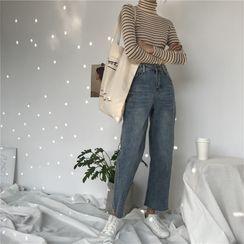 Guajillo - 九分水洗直筒牛仔褲