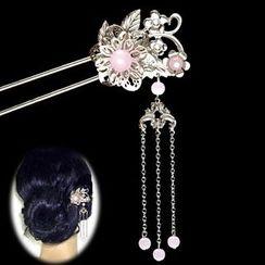 Paparazzi - Flower Dangling Hair Pin