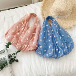 Lizzy - Floral Mesh Handbag