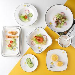 Heysoo - Printed Ceramic Plate (various designs)
