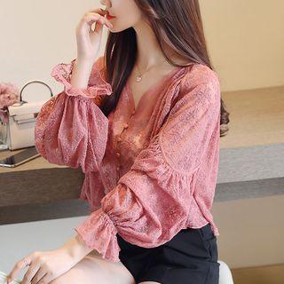 Romarin - 荷叶边蕾丝衬衫