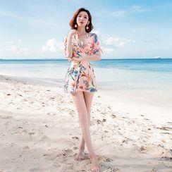 Charmaine - Floral Swim Dress / Hat / Pouch / Set