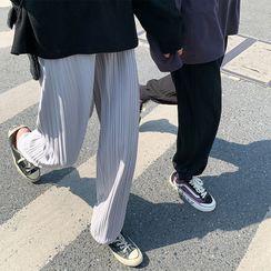 DragonRoad - 弹簧绳打褶裥宽腿裤