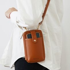 Dionysus - Faux Leather Mobile Pouch