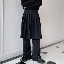 Bjorn - Mock Two-Piece Wide Leg Pants