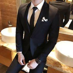 Sheck - Set: One-Button Blazer + Vest + Pants