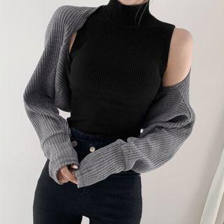Thetis - 小高领罗纹针织背心 / 毛衣