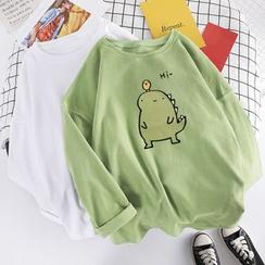 BALITIK - Long-Sleeve Dinosaur Print T-Shirt