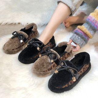 NODO - Platform Leopard Print Ankle Snow Boots