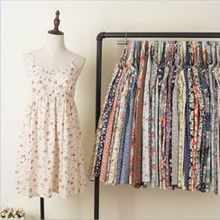 Lacyland - Floral Strappy A-Line Dress