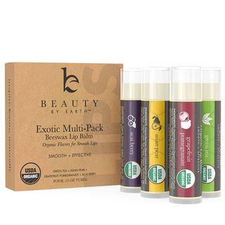 Beauty by Earth - 天然水果蜂蜡润唇膏4支套装