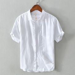 Menelaus - Plain Short-Sleeve Shirt