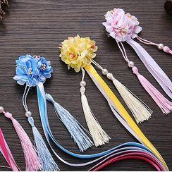 Fenix - Traditional Chinese Flower Tassel Hair Clip / Set