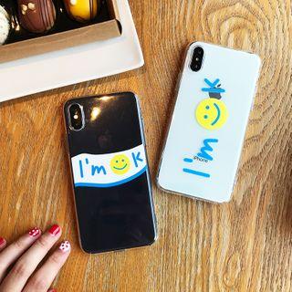 Arancia - Smiley Face Print Phone Case - iPhone 6 / 6S / 6S Plus / 7 / 7 Plus / 8 / 8 Plus / X / XS / XR / XS Max / 11 / 11 Pro / 11 Pro Max