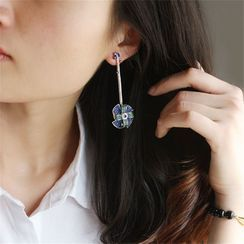 Zibliss - Rhinestone Windmill Drop Earring