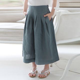 Cuckoo - Kids Cropped Wide-Leg Pants