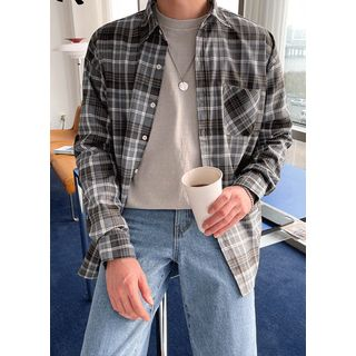 JOGUNSHOP - Pocket-Front Plaid Shirt