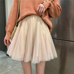 Sisyphi(シシピ) - Mini Mesh Skirt