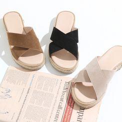 HOTPING - Cross Espadrille Sandals