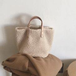Minafox - Furry Short Handle Tote Bag