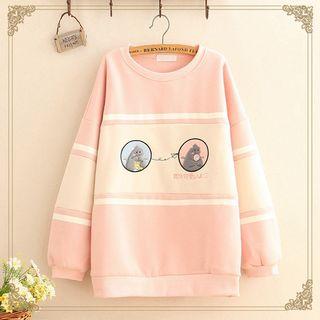 Kawaii Fairyland - Monster Embroidered Oversize Sweatshirt