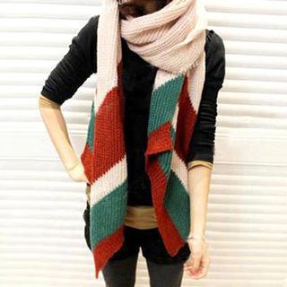 Rita Zita - 撞色针织围巾