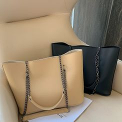 Road to Love - Faux Leather Carryall Bag