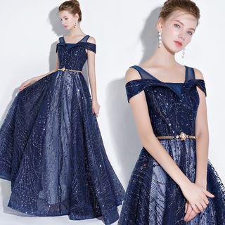 Sennyo - Open Shoulder Evening Dress