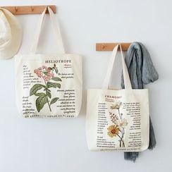 Andrade - Printed Canvas Shopper Bag