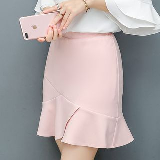 In the Mood - Plain A-Line Skirt