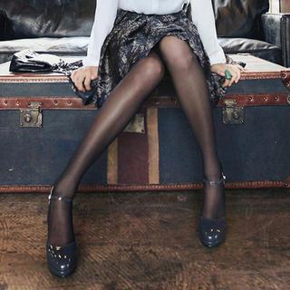 Clair Fashion - 露肌透光黑色絲襪