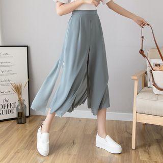 Emeraude - Mock Two-Piece Wide-Leg Pants