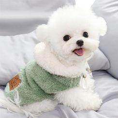 Bixin - Chenille Hooded Pet Top