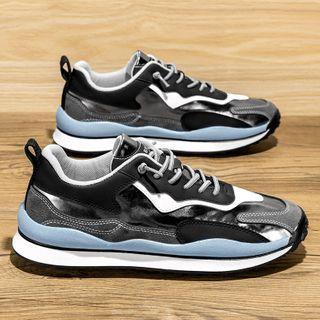 TATALON - Splice Panel Lace-Up Sneakers