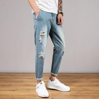 Denimic - 散口修身牛仔褲
