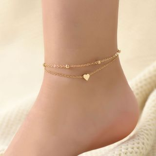 Yella - Set of 2: Alloy Anklets