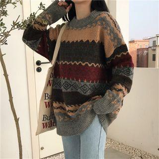 Ashlee - 寬鬆印花針織毛衣