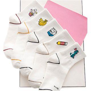 Cottonet - Embroidered Socks