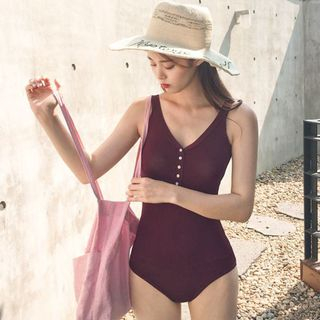 MALILA - Button-Up Swimsuit