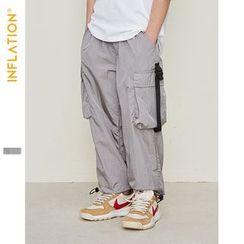 Wolandorf - 男童織帶抽繩風衣縮腳褲