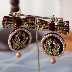 Ashmi - 婚禮刺繡耳墜