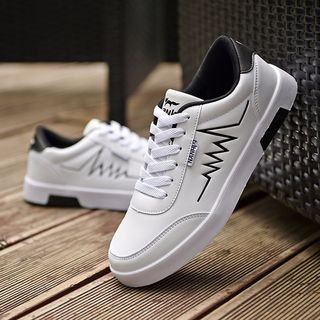 Viffara - Embroidered Lace Up Sneakers