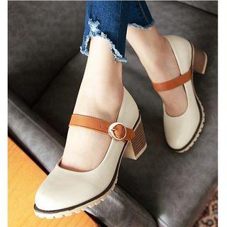 Freesia - 粗跟玛莉珍鞋
