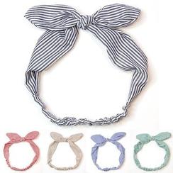Reiro - Striped Bow Headband