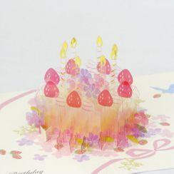 Sunflown - 3D 生日蛋糕心意卡