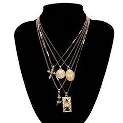 BAST - Alloy Pendant Layered Necklace