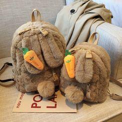 KOCORE - 兔耳饰毛毛背包