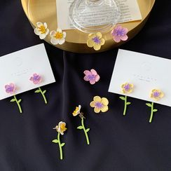 Admae - 花朵耳钉 / 耳环