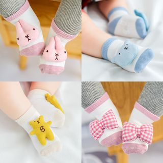 Cloud Femme - [Set of 3] Baby Cartoon Accent Socks