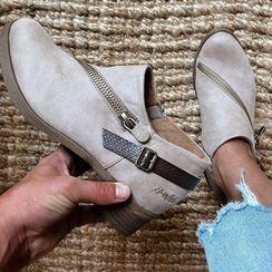 Avanti - Low-Heel Zipped Ankle Boots